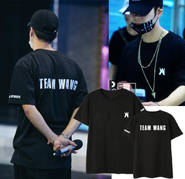Nouveau Kpop GOT7 JACKSON équipe wang Le Même Couple D'été À Manches Courtes T-shirt