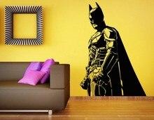 Free Shipping diy vinyl wall sticker Batman Wall Decal Vinyl Removable Sticker The Dark Knight Superhero Atr Home Decor 56x80cm