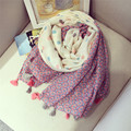 Tassel Scarf Shawl Women/Girl Paisley Dots Printed Muffler Warmer Thick Neckerchief Lady Fashion Big Size Tassles Pashmina Scarf