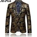 Hombres chaqueta más el tamaño XS-2XL 2016 nueva otoño invierno moda de vestir de negocios delgado Custom Fit Outwear la chaqueta ocasional del juego E1861