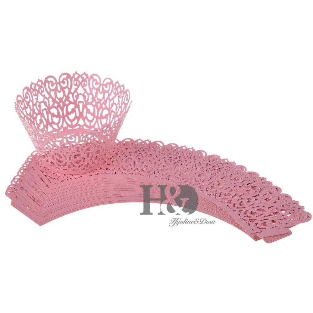 Pink Cloud Hollow Out Cake Paper Wrap Cupcake Wrapper Cupcake Box ...