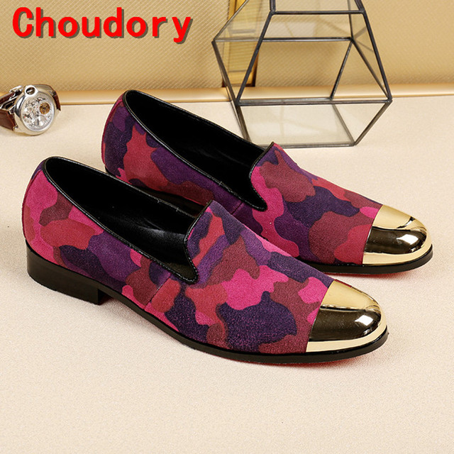 Choudory velvet loafers gold dress shoes men elegant slipon party wedding  handmade shoes italy hidden heel shoes for men 953b4738766d