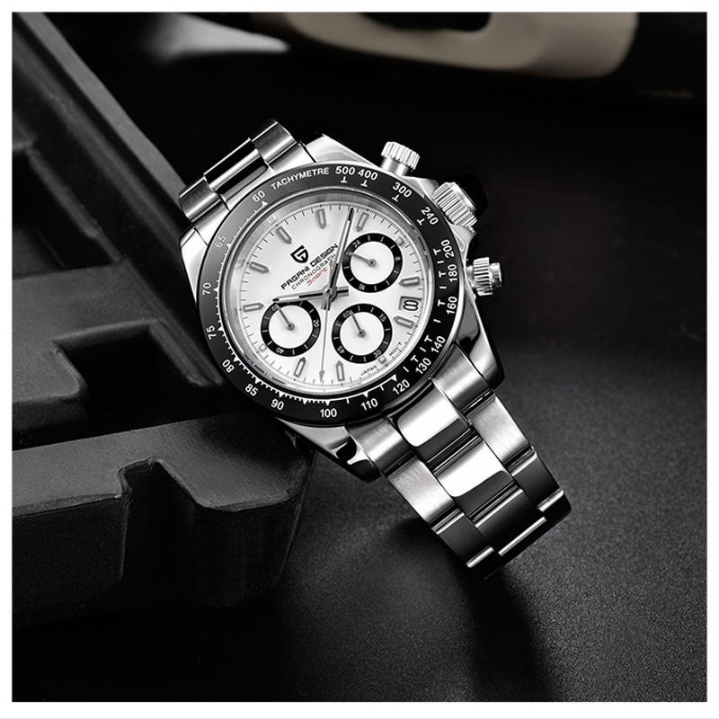 2019 pagani design hot watch 남성 다기능 시계 스테인레스 스틸 스트랩 비즈니스 럭셔리 쿼츠 손목 시계 relogio masculino-에서수정 시계부터 시계 의  그룹 2
