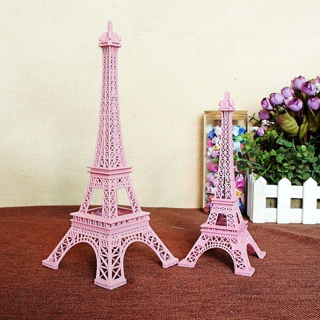 2pcslot 25CM Pink Tower Eiffel Home Decoration Items Vintage