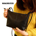 MAKORSTER Casual small PU Leather women messenger bags shoulder handbags women to famous brands designer Soft bag black ladies