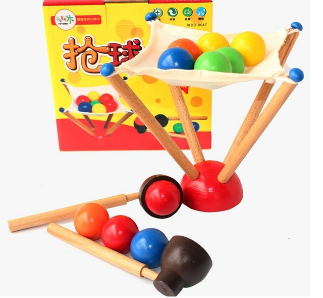 candice guo Montessori educational wooden toy challenge for the mini ball balance training parent-child game early learning 1set