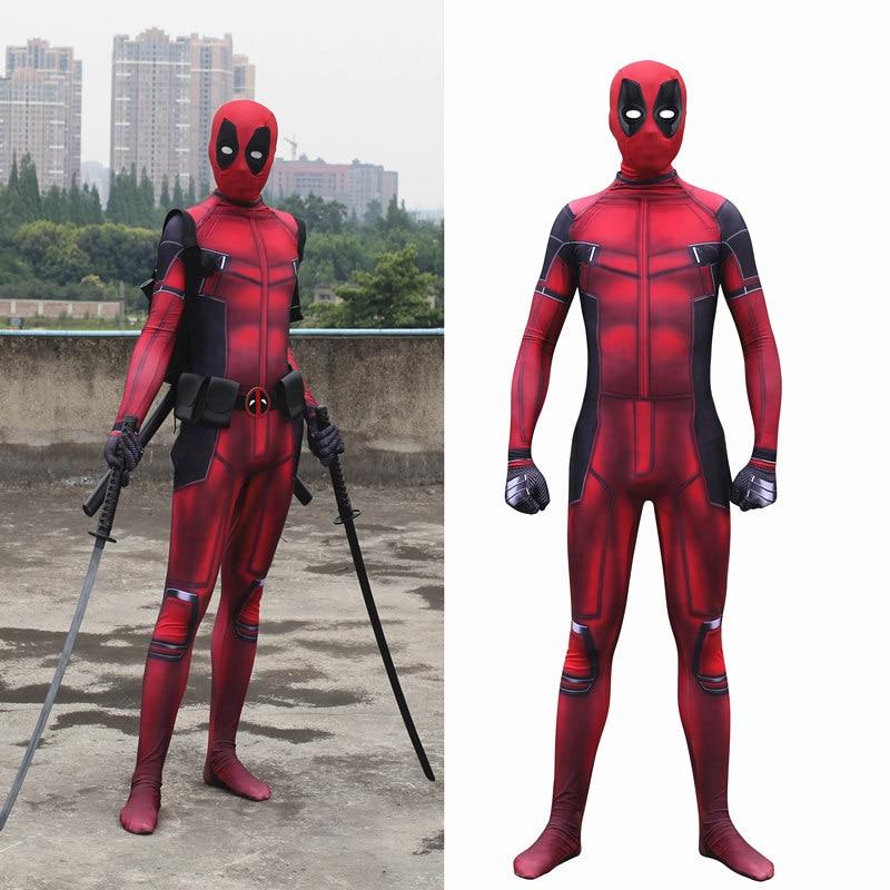 Enfant adulte film deadpool costume salopette Spandex Zentai Body enfants deadpool 2 Halloween cosplay costumes