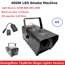 Remote Control LED 400W Fog Smoke Machine RGB 3IN1 Smoke Machine LED DJ Party Bar Stage Light Smoke Thrower Disco Laser Light