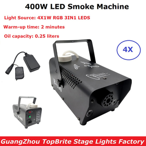 Remote Control LED 400W Fog Smoke Machine RGB 3IN1 Smoke Machine LED DJ Party Bar Stage Light Smoke Thrower Disco Laser Light