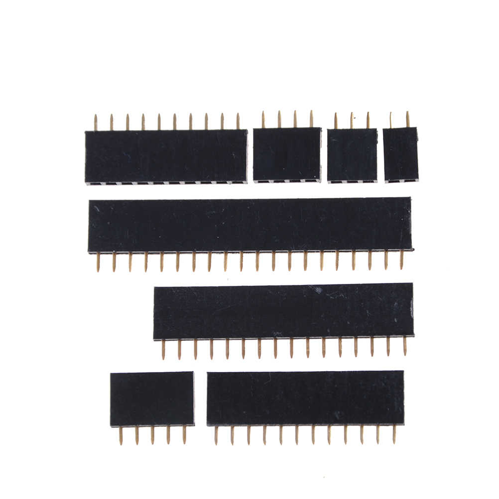 20Pcs 2/3/4/5/10/12/16/20 Pin 2.54mm Single Row Straight Male+Female SIL Pin Header Socket Row Strip PCB Connector for Arduino