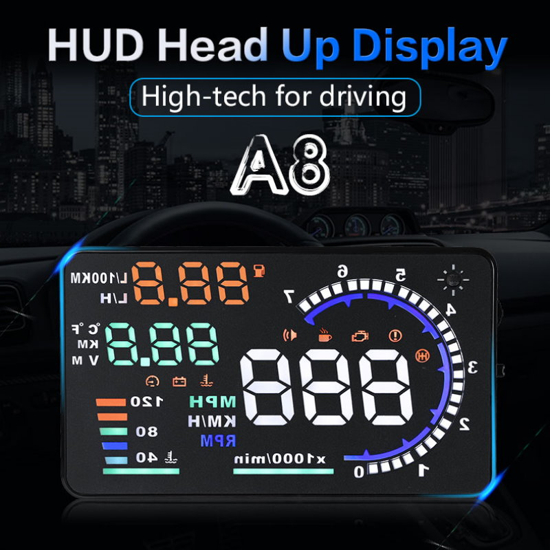 Liandlee Car Head Up Display HUD For Audi Q5 2011 2018 Safe Driving Screen OBD II Speedometer Projector Windshield in Head up Display from Automobiles Motorcycles