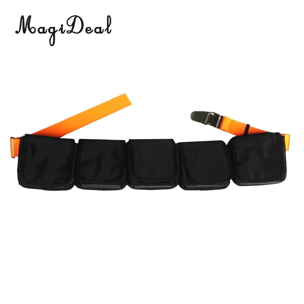 MagiDeal Heavy Duty Scuba Diving 5 Pocket Weight Belt Webbing Buckle Gear Equipment дырокол deli heavy duty e0130