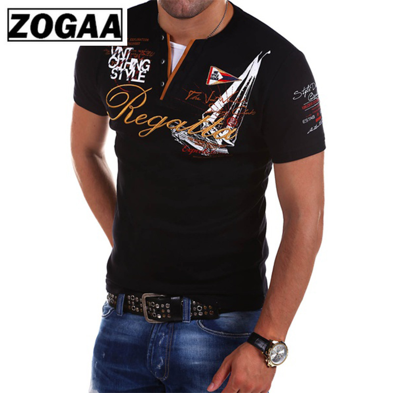 Plus Size Men's Fashion Short Sleeve Pure Color   Polo   Shirt ZOGAA 2018 Casual Letter Anti-shrink Streetwear Slim Shirts for Men