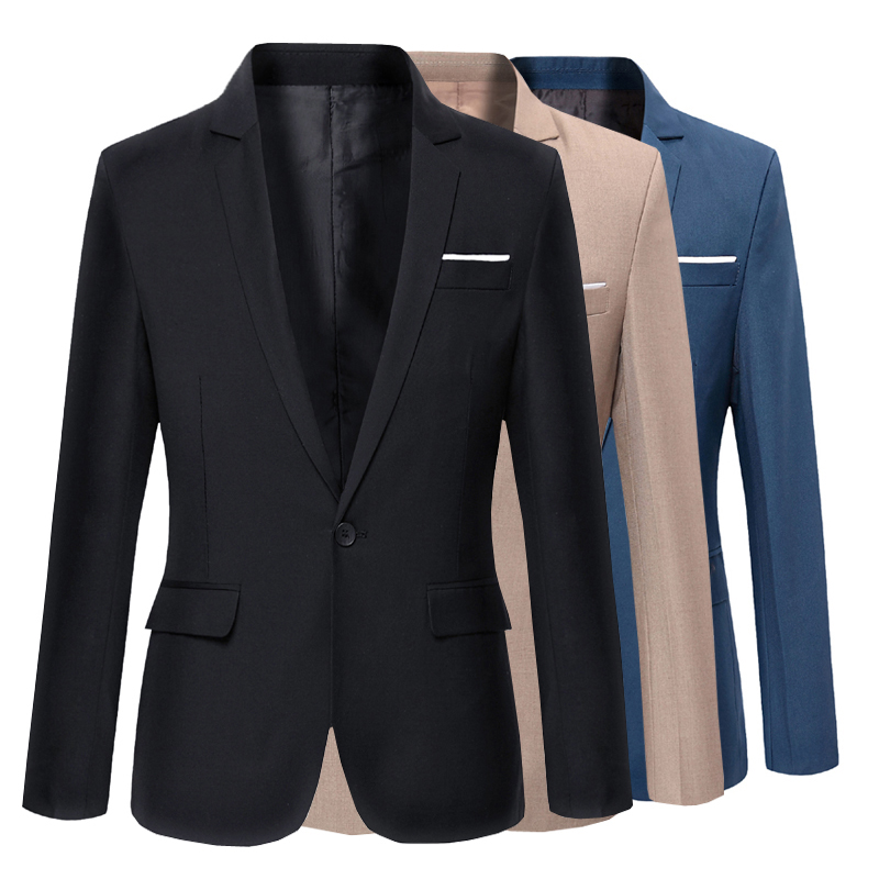 Dress Suits Men Formal Wear Suit Jackets For Wedding Smart Casual Blazers New Male Cotton Slim Suit Jackets Size 3XL