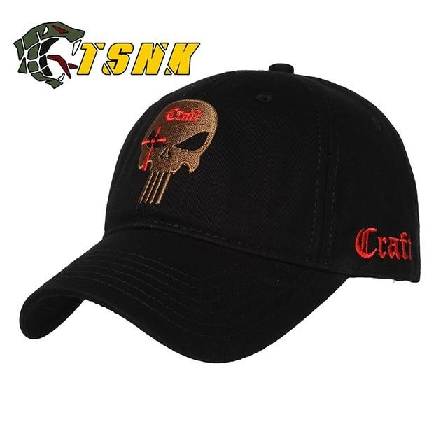 TSNK Men Women Embroidered Amercian Punisher SEAL Team Cotton Running Hat  Adjusted Snapback Baseball Cap 3232087eaf75