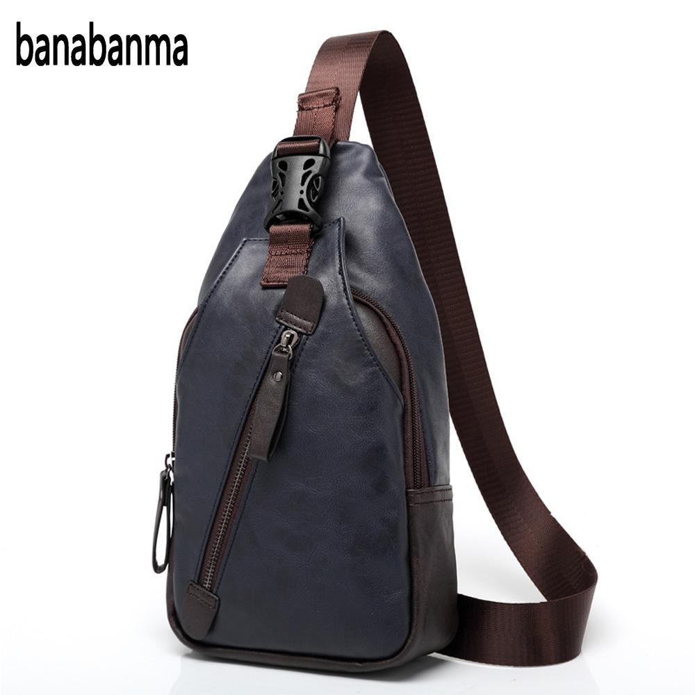 banabanma Mens fashion PU leather thoracic sling bags more pocket waterproof bag shoulder bag one shoulder belt Anti theft ZK30banabanma Mens fashion PU leather thoracic sling bags more pocket waterproof bag shoulder bag one shoulder belt Anti theft ZK30
