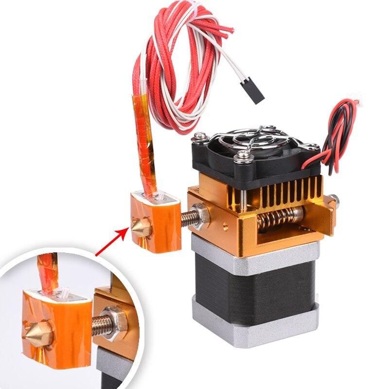 MK8 Extruder Head J-head Hotend 0.4MM Nozzle 1.75MM Filament 3D Printer Parts Reprap Feeder Extrusion With Stepper Motor Fan недорго, оригинальная цена