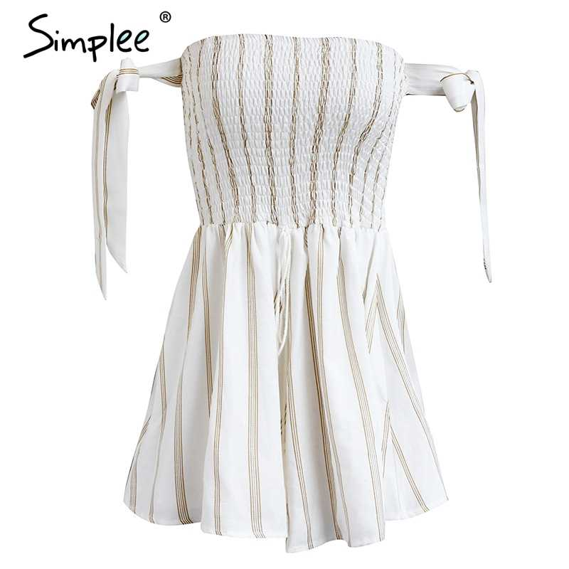 Simplee Backless blume drucken jumpsuit frauen Elastische kordelzug spezielle hülse overall Sommer strand party kurze overalls