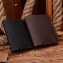 100% cow genuine leather men wallets vertical style Crazy horse leather newest desgin male purse 113 free shipping