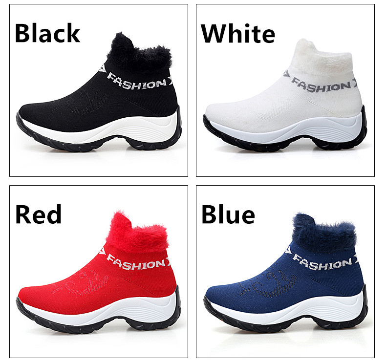 STS BRAND 2019 New Winter Ankle Boots Women Snow Boots Warm Plush Platform Sneakers Breathable Mesh Sneakers Travel Casual Shoes (4)
