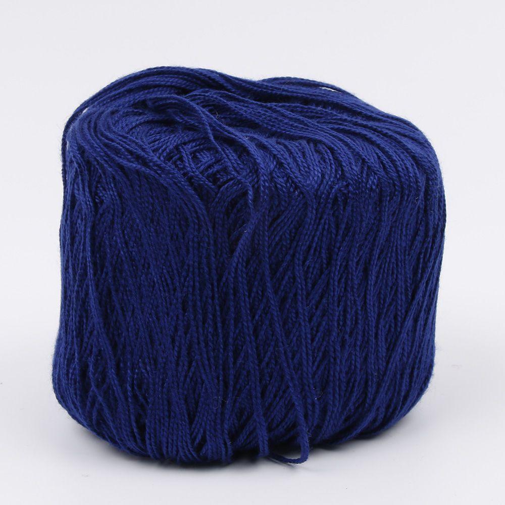 400 метров хлопчатобумажная нить для вязания крючком инструмент для рукоделия ручной работы - Цвет: navy blue
