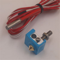 Blurolls 12V 24V MK8 Hotend Kit 0 4mm Ptfe Linear Tube Throat With Silicone Sock For