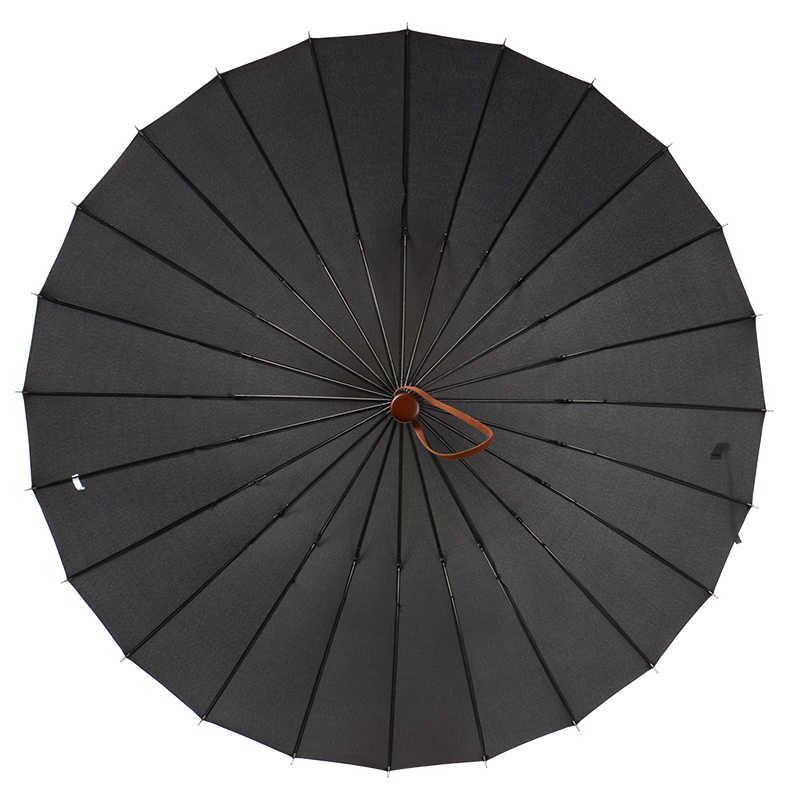 112 Cm Diameter Terbuka Tangan 24 Tulang Rusuk Warna Solid Kayu Antik Bisnis Tahan Angin Payung Komersial Waterpoof Mobil Hujan Gigi