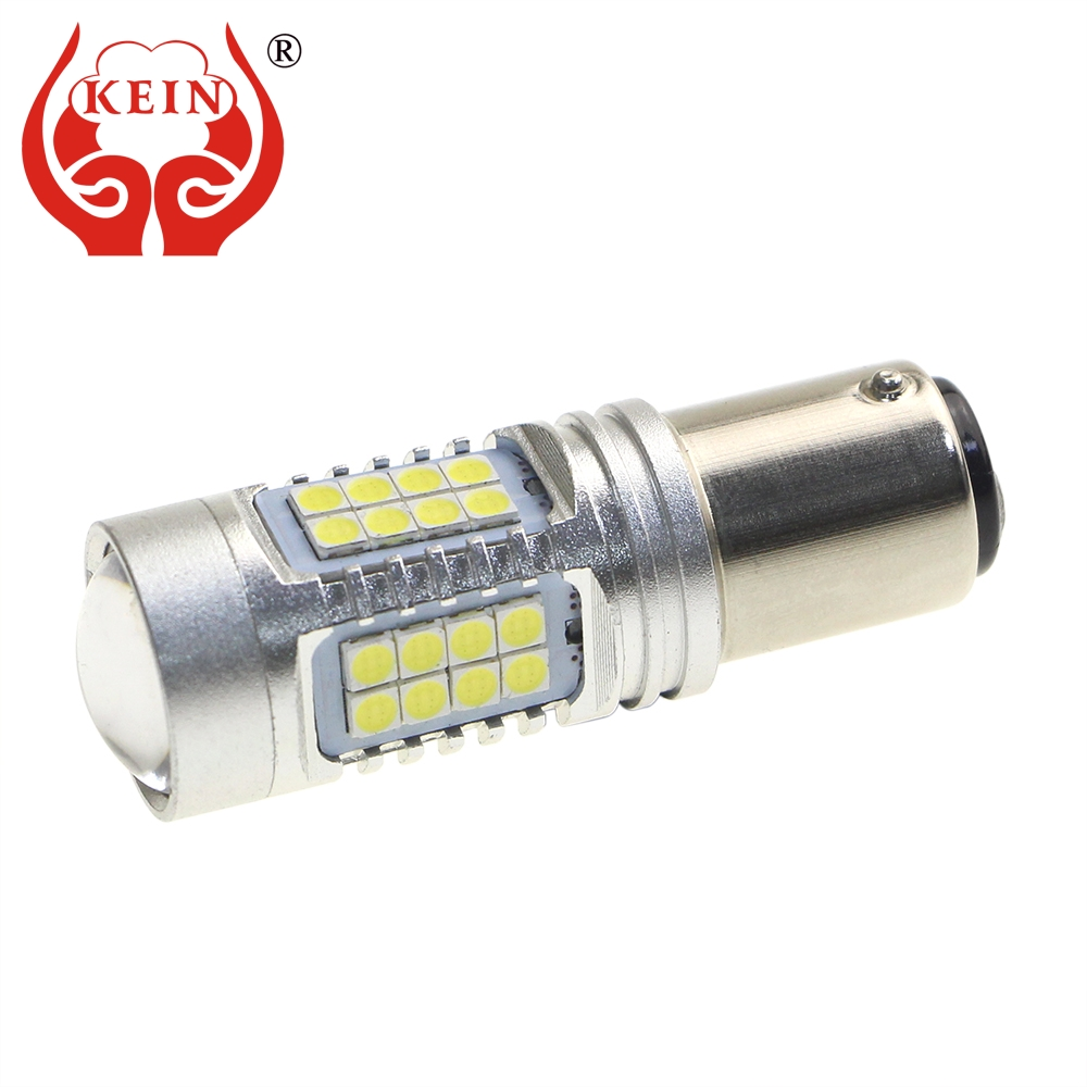 KEIN p21w led car 1156 ba15s 1157 bay15d 508 T20 7440 w21w 7443 w21/5w 3030 white red yellow DRL Reverse Brake Turn Signal Bulb ld t20 7 5w 350lm 6500k 15 led white cob car turn signals silver yellow white 10 13 6v