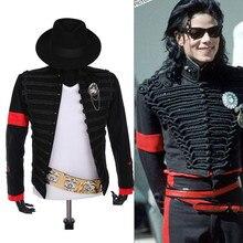 Редкий панк торжественное платье Классический английский стиль MJ Майкл костюм ДЖЕКСОН Военная куртка пояс шляпа для фанатов имитатор лучший подарок
