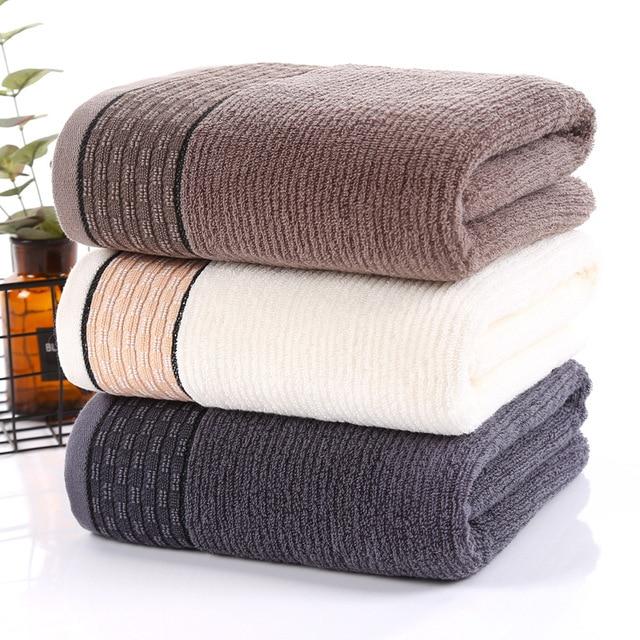 New Style Home Hotel Solid Men Cotton Bath Towel Luxury Bath Towels