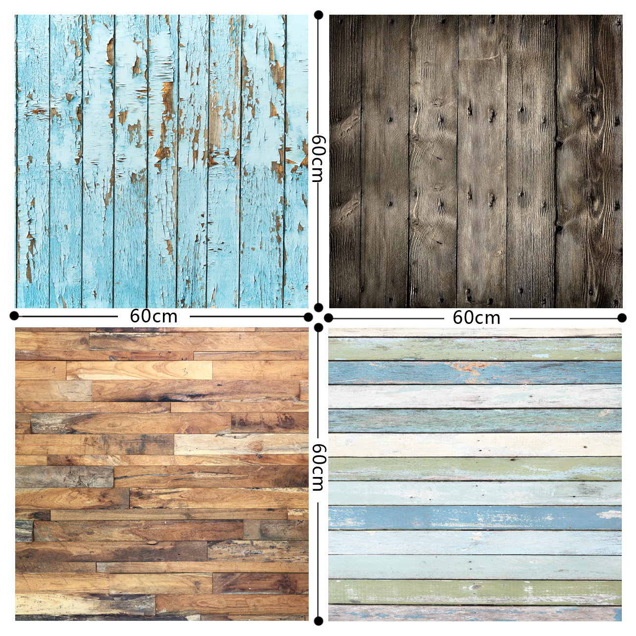 HUAYI 4pc 2x2ft wood planks backdrops for photography wood vinyl background photo props wood GY-012 retro background christmas photo props photography screen backdrops for children vinyl 7x5ft or 5x3ft christmas033