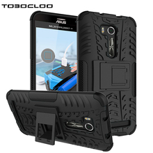 TOBOCLOO Cases For ASUS Zenfone GO TV ZB551KL G550KL 5.5 inch Heavy Duty Hard PC + Soft Silicone Stand Slim Phone Case Cover(China)