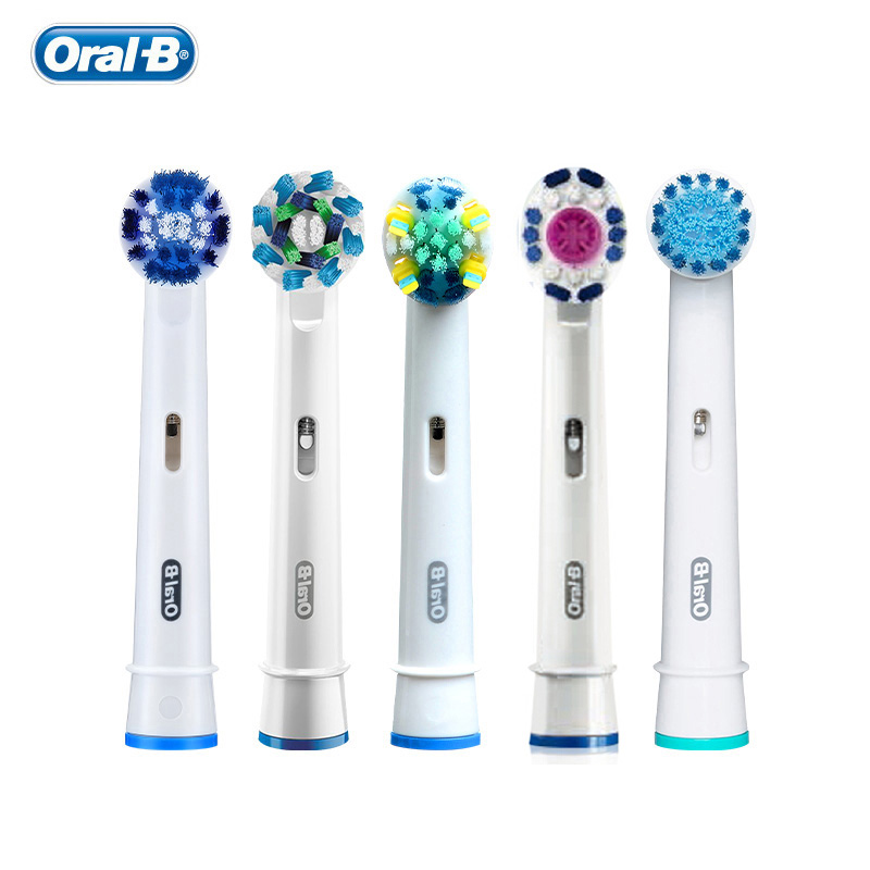 Oral B Replacement Toothbrush Heads for Adults Oral-B Teeth Whitening 5 Heads EB17 EB18 EB20 EB25 EB50 EB60 Each One Piece oral b replacement tooth brush heads precision clean rotation electric toothbrush 4 heads eb17 eb18 eb20 eb25 eb30 eb50 eb60
