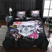 Sugar Skull Thin Quilted Comforter Set 200*230cm 230*230cm Quilt with Pillowcase Gothic Horror Home Textiles
