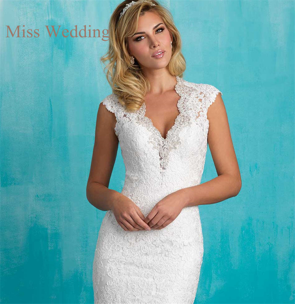 Vintage Inspired Luxury Lace Cap Sleeve Wedding Dress A9318 ...