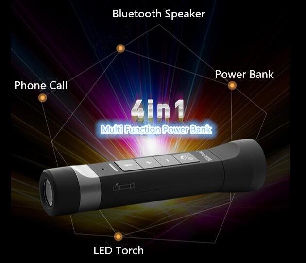 Bluetooth Speaker Passive Loudspeakers Portable Waterproof Outdoor Shower MP3 Speakers Power Bank for iPhone 6 Xiaomi