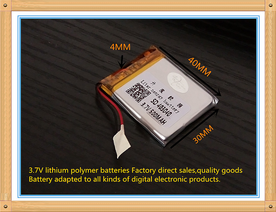 (free Shipping)polymer Lithium Ion Battery 3.7 V 500mah 403040 Ce Fcc Rohs Msds Quality Certification free shipping polymer lithium ion battery 3 7 v 401225 ce fcc rohs msds quality certification