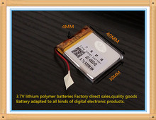 (free shipping)Polymer lithium ion battery 3.7 V 500MAH 403040 CE FCC ROHS MSDS quality certification