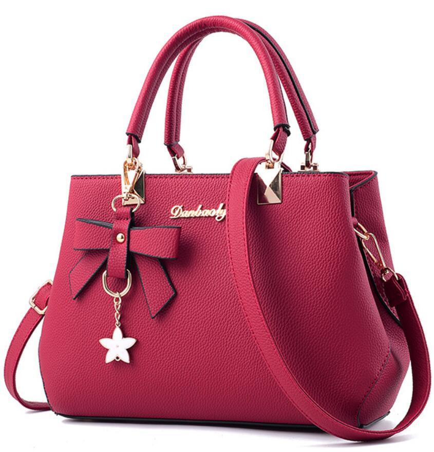 kvinnor hårdvara ornament solida väskor handväska hög kvalitet - Handväskor - Foto 6