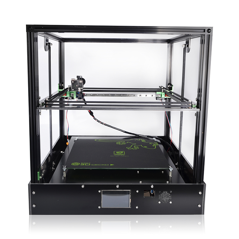 2018 Newest 3D Printer Gecko Core XY Structure DIY Kit with heat bed large print size with clone Titan extruder 3D Printer zonestar newest full metal aluminum frame big size 300mm x 300mm auto level laser engraving run out decect 3d printer diy kit