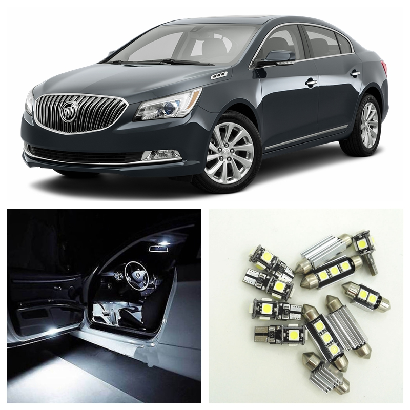 12pcs Xenon White LED Light Bulbs Interior Package Kit For Buick LaCrosse 2010-2015 Dome Door License Plate Lamp oysters t74er 7 4 gb wi fi black