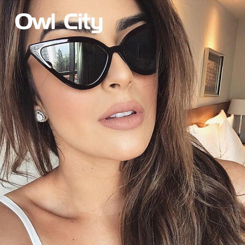 Owl City Cat Eye lunettes de Soleil Femmes 2018 Lunettes De Luxe Noir Rétro Femme de Lunettes De Soleil Cateye Lunettes de Soleil pour Femme Nuances