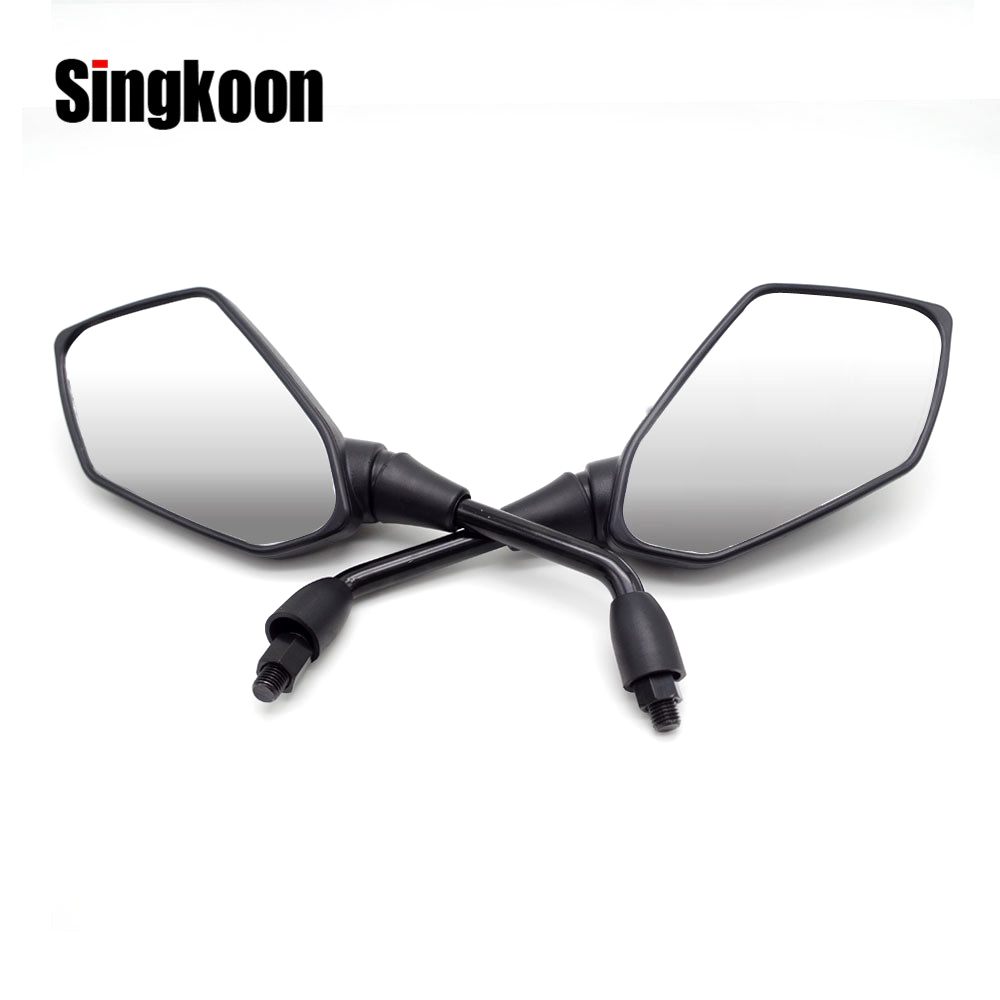 Universal 10mm Motorcycle Mirror Rearview Scooter Accessories retroviseur <font><b>moto</b></font> FOR yamaha <font><b>xt</b></font> <font><b>660</b></font> honda forza 250 bmw f800gt image