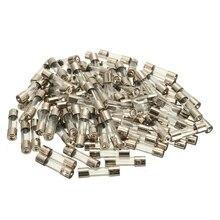 100 Шт. 5 х 20 мм Быстрый Удар Стеклянная Трубка Fuse набор Комплект, Быстрый удар Стекло Предохранители