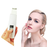 Rechargeable Ultrasonic Ion Skin Scrubber Microdermabrasion Facial Massager Spa