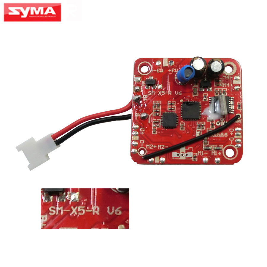 syma x5c x5 2.4G 4CH Remote Control RC Helicopter Quadcopter parts syma-x5-v6 PCB Board Upgraded version receiver/main board xinlin shiye x123 3 5 ch r c infrared control helicopter black yellow