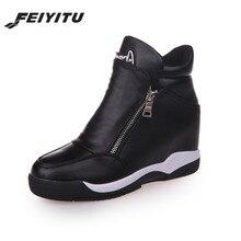 FeiYiTu Womens shoes height increasing platform sneakers tenis feminino woman zapatillas mujer casual sapato
