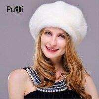 HM025 women's winter hats Real genuine mink fur hat winter women's warm caps whole piece mink fur hats