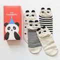Gift Box cute cartoon 3d panda patterns cotton socks for women spring autumn creative short socks female ankle socks 4pairs s69