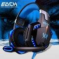 Kotion each g2000 gaming headset auriculares de teléfono del oído estéreo casque auricular auriculares de juegos de pc con micrófono led para ordenador